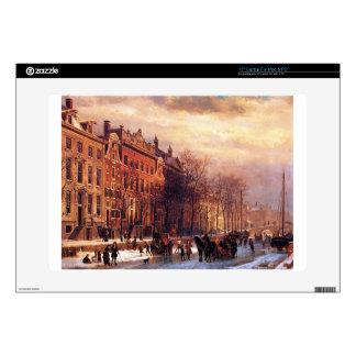 View on Heerengracht in Amsterdam by Cornelis Laptop Skins