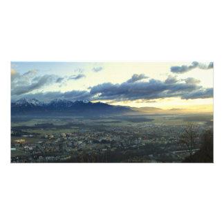 View on Kranj from Smarjetna Gora Slovenia Photo Card Template