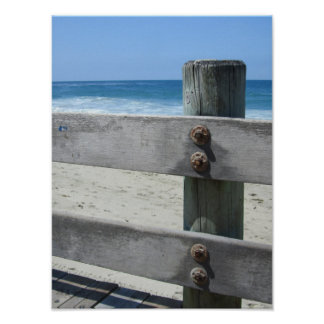 View on the beach - boardwalk poster