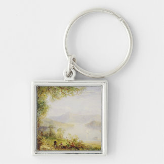 View on the Hudson River, c.1840-45 (oil on panel) Keychain