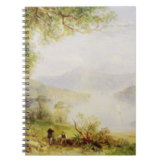 View on the Hudson River, c.1840-45 (oil on panel) Journal