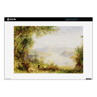 View on the Hudson River, c.1840-45 (oil on panel) Decals For Laptops