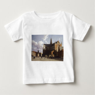 View on the market of Haarlem Sun by Johan Hendrik Baby T-Shirt