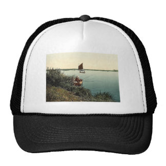 View on the river, Barton Broad, England classic P Hat