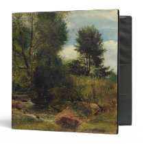 View on the River Sid, near Sidmouth, c.1852 (oil Binder