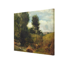 View on the River Sid, near Sidmouth, c.1852 (oil Canvas Print