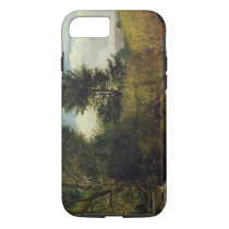 View on the River Sid, near Sidmouth, c.1852 (oil iPhone 7 Case