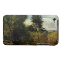 View on the River Sid, near Sidmouth, c.1852 (oil iPod Case-Mate Case