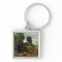 View on the River Sid, near Sidmouth, c.1852 (oil Keychain