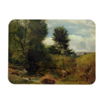 View on the River Sid, near Sidmouth, c.1852 (oil Magnet
