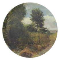 View on the River Sid, near Sidmouth, c.1852 (oil Melamine Plate
