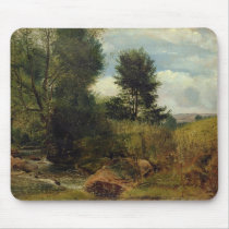 View on the River Sid, near Sidmouth, c.1852 (oil Mouse Pad