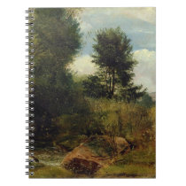 View on the River Sid, near Sidmouth, c.1852 (oil Notebook
