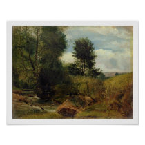 View on the River Sid, near Sidmouth, c.1852 (oil Poster