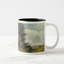 View on the River Sid, near Sidmouth, c.1852 (oil Two-Tone Coffee Mug