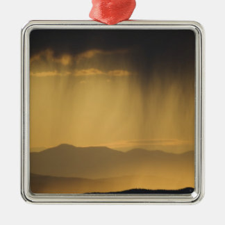 View onto successive hills along the Top of Square Metal Christmas Ornament