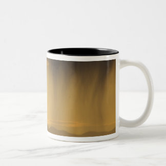 View onto successive hills along the Top of Two-Tone Coffee Mug