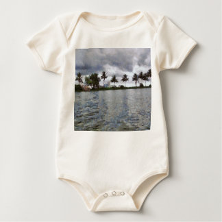 View over a lake baby bodysuit
