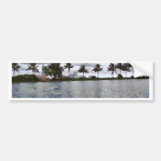 View over a lake bumper sticker