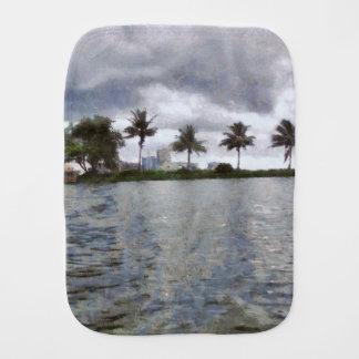 View over a lake burp cloth