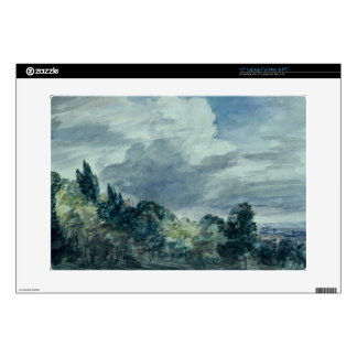 """View over a wide landscape, with trees in the fore decals for 15"""" laptops"""