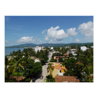 View over Bucerias Town in Mexico Poster