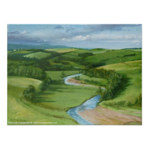 """""""View over Coquetdale"""" Northumberland - Print"""