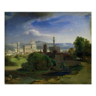 View over Florence, c.1829 Poster