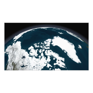 View over Greenland and the Arctic Ocean Photo Print