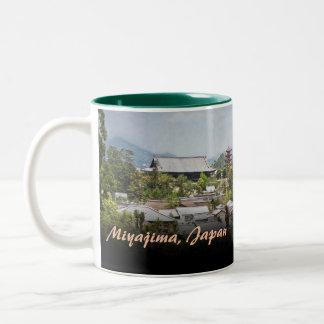 View Over Miyajima Village Two-Tone Coffee Mug