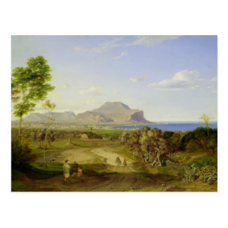 View over Palermo, 1828 Post Card