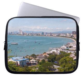 View over Pattaya bay. Computer Sleeve