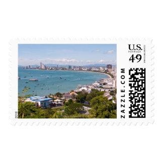 View over Pattaya bay. Stamp