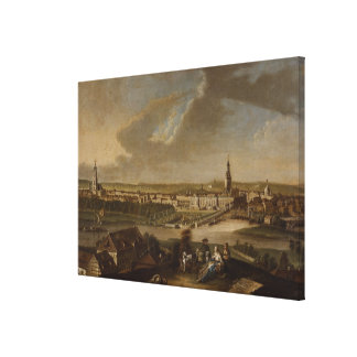 View over Potsdam from Brauhausberg, 1772 Canvas Prints