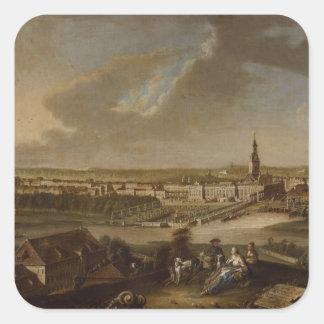 View over Potsdam from Brauhausberg, 1772 Square Sticker