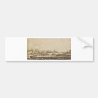View over the Amstel from the Rampart by Rembrandt Bumper Sticker