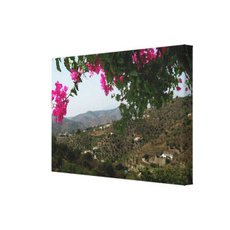 View over the Axarquía Canvas Print