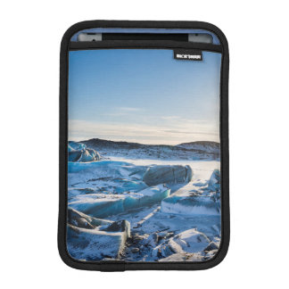 View over the frozen glacial lake iPad mini sleeve