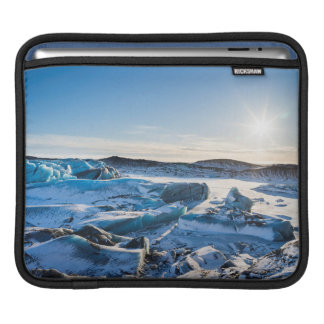 View over the frozen glacial lake iPad sleeves