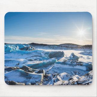View over the frozen glacial lake mouse pad
