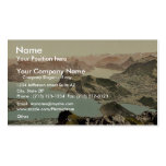 View over the Lake of Four Cantons, Pilatus, Switz Business Card Template