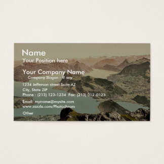 View over the Lake of Four Cantons, Pilatus, Switz Business Card