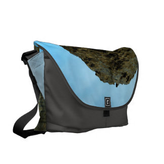 View over the ocean  with ship messenger bags