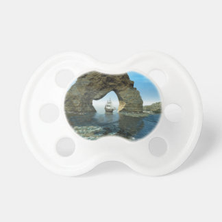 View over the ocean  with ship BooginHead pacifier