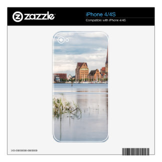View over the river Warnow to Rostock Skins For The iPhone 4S