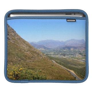View over the South African town of Franschhoek iPad Sleeve