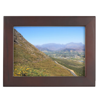 View over the town of Franschhoek in South Africa Memory Box