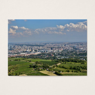 View Over Vienna From Kahlenberg Business Card