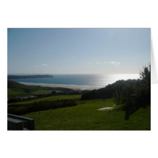 View over Woolacombe beach   Card