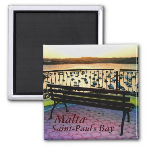 View point in Saint-Paul's Bay in Malta Magnets